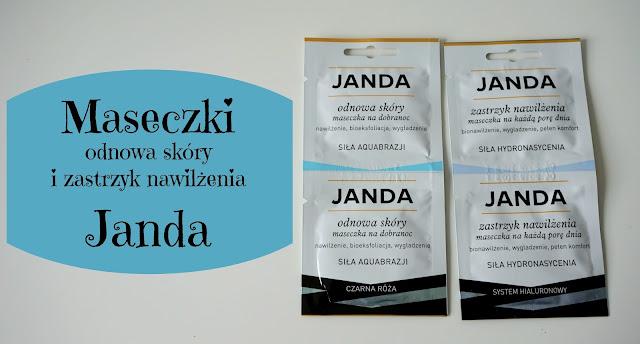 RECENZJA: Maseczki zastrzyk nawilżenia i odnowa skóry | Janda