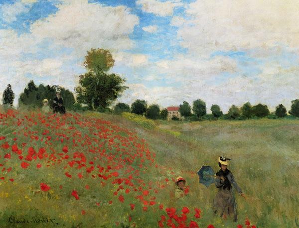 Claude Monet: klaprozen in de buurt van Argenteuil