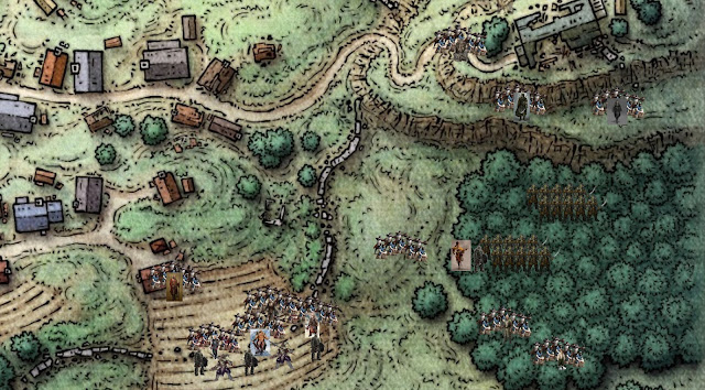 Moula engages orcs trying to infiltrate Tresendar Manor in Phandalin