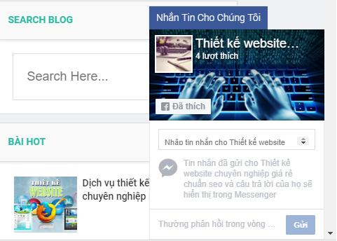 Thêm chat facebook vào blogspot