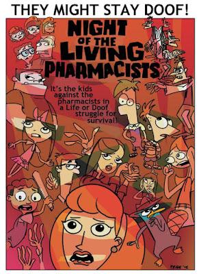 Phineas şi Ferb: Noaptea Zombilor Doof Online Dublat în Română
