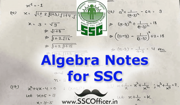 [PDF] Hand-Written Algebra Notes in PDF- Download Now- SSC Officer