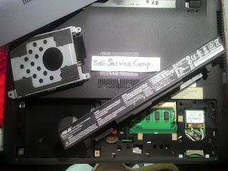 cara bongkar buka case laptop