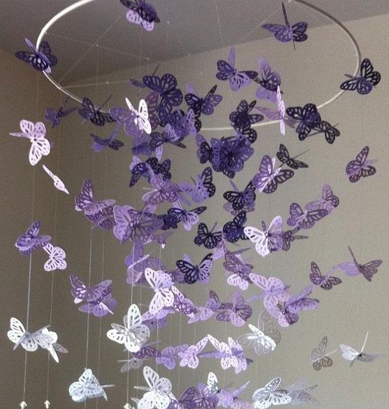 I Love Artigianato: Come fare un lampadario con le farfalle tutorial
