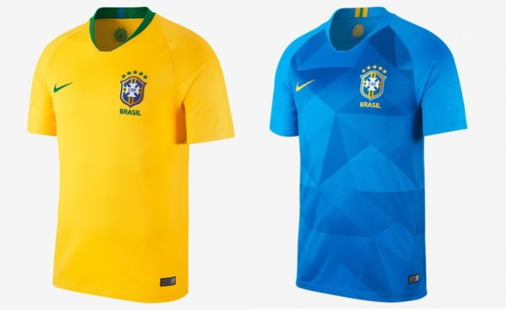 cf9511a73 Nike s produced classic yet stunning Brazil home kit in iconic yellow  colour while the away kit will be blue with slightly darker print.
