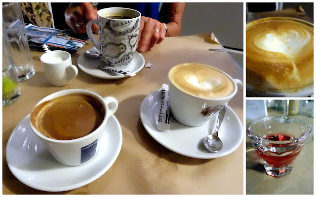 Coffee at Rachi Taverna in Lefkada, Greece