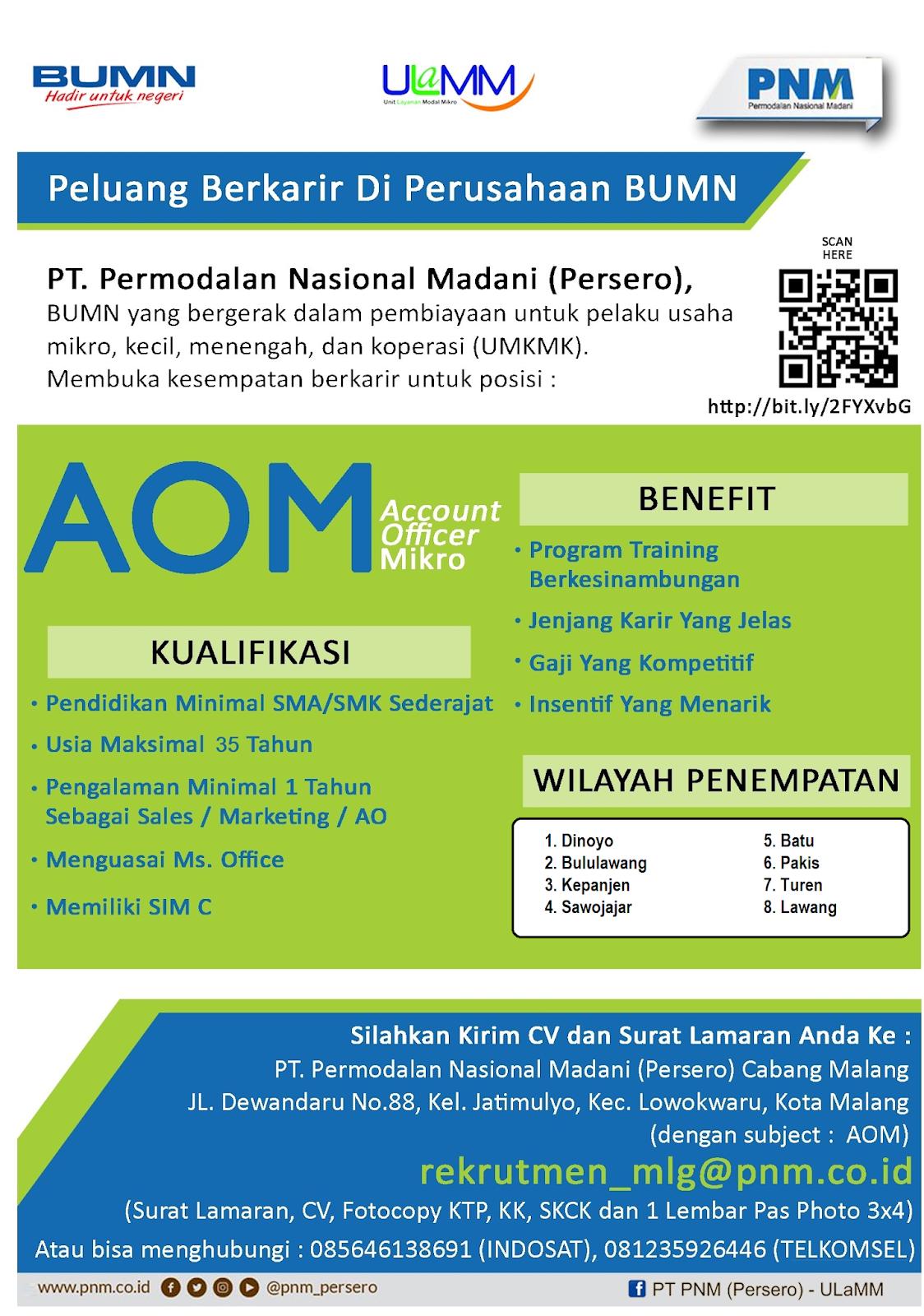 Lowongan Kerja Tingkat SMA PT Permodalan Nasional Madani (Persero)