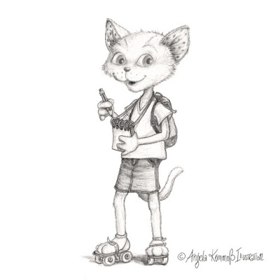 Illustration, pencil, Bleistiftzeichnung, Kinderbuch, Kommoß