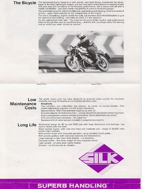 Silk 700S Motorbike Brochure