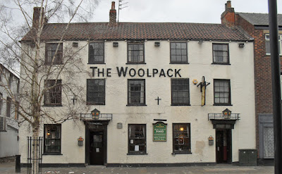 The historic Woolpack Inn in Brigg town centre - see Nigel Fisher's Brigg Blog