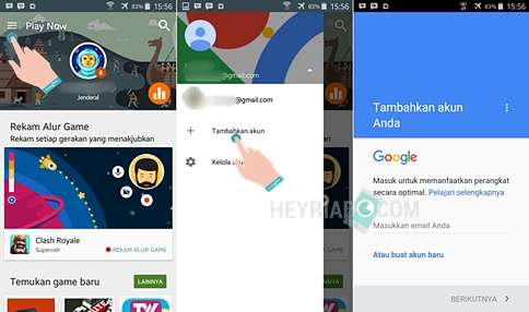 Cara Mengganti Akun Google Play Game Android