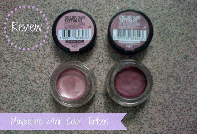Maybeline Color Tattoos Pink Gold and Metallic Pomegranate