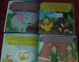 Bahasa kali ini adalah masih tentang dunia binatang juga namun dengan judul dan isi yang  Buku Cerita Bergambar 2 Bahasa