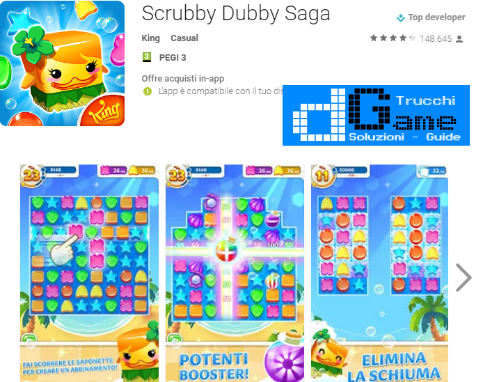 Soluzioni Scrubby Dubby Saga livello 211 212 213 214 215 216 217 218 219 220 | Trucchi e  Walkthrough level