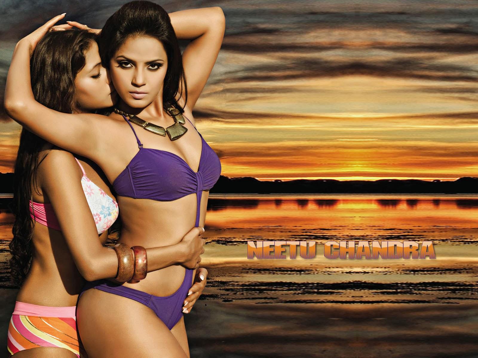 Bipasha Basu: Neetu Chandra Hot HQ Bikini Wallpapers