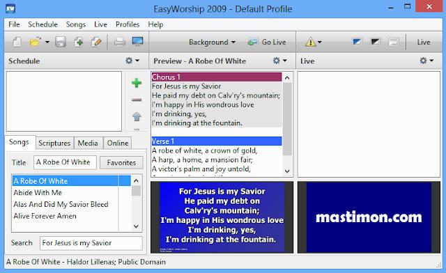 EasyWorship 2009 : Donlowad, Instal Software, Alkitab dan Cara mengoperasikan