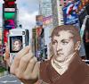 Afirman que la foto de Manuel Belgrano en el billete de $10 se la sacó él mismo mediante una selfie