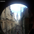 Looking at the Cathedral from the Gros Horloge, Rouen, France