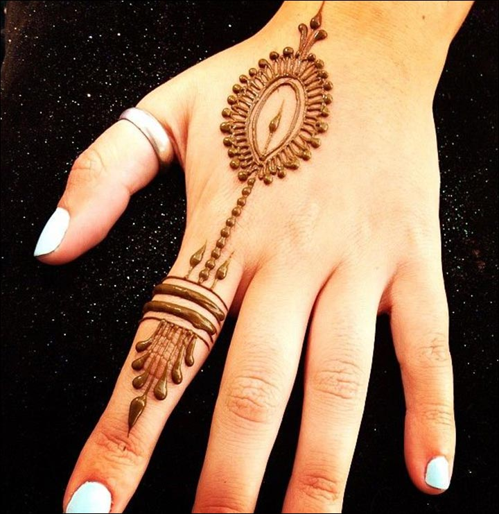 Elegant Ring Mehndi Designs For Fingers