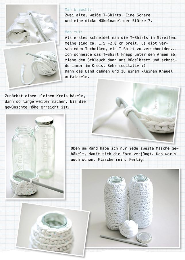 Ynas Design Blog, DIY umhäkelte Vase, crotchet vase