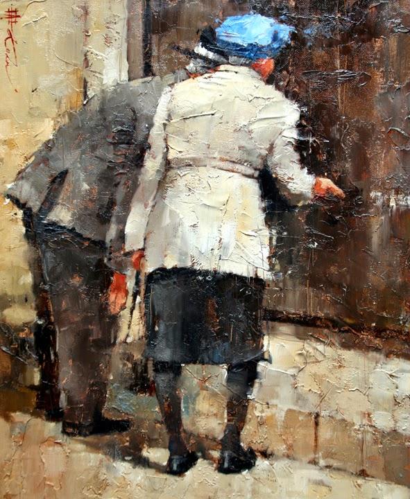 Fazendo Compras - Andre Kohn e suas pinturas - Impressionismo Figurativo