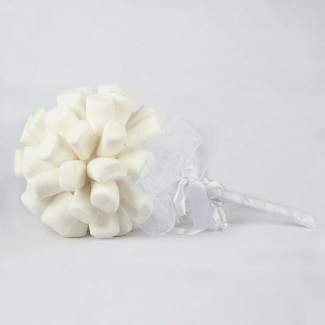 Buquê de marshmallow para daminhas de honra