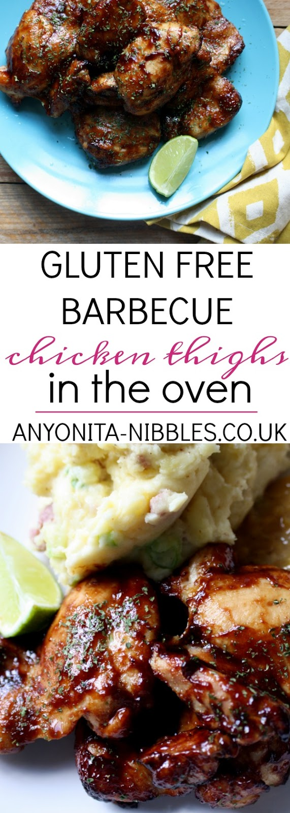 Gluten Free Oven Barbecued Chicken Thighs from Anyonita-Nibbles
