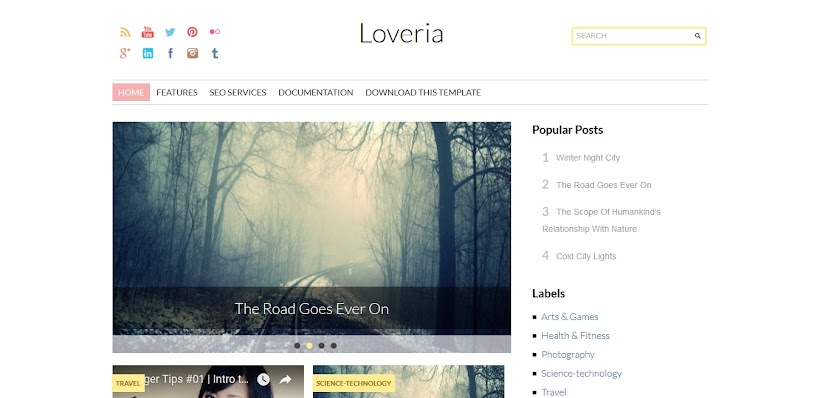 Loveria Free Blogger Template