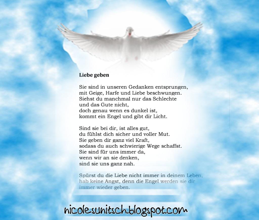 Gedichte Von Nicole Sunitsch Autorin Engel Liebe Geben