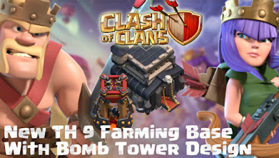 Base Farming TH 9 COC Update Bomb Tower Terbaru 2017