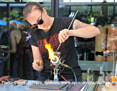 Urban Glass Glass Blowing Demonstration at Blues, Brews and Botany New York Botanical Garden NYBG Fall 2017
