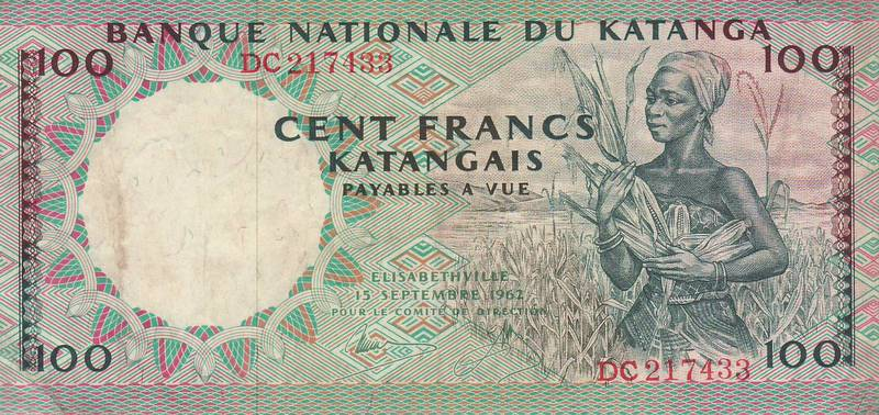 KATANGA Banknotes: Moise Tshombe and the Short Lived