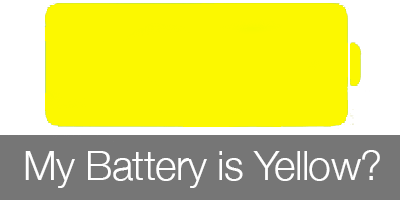 Yellow Battery on iPhone