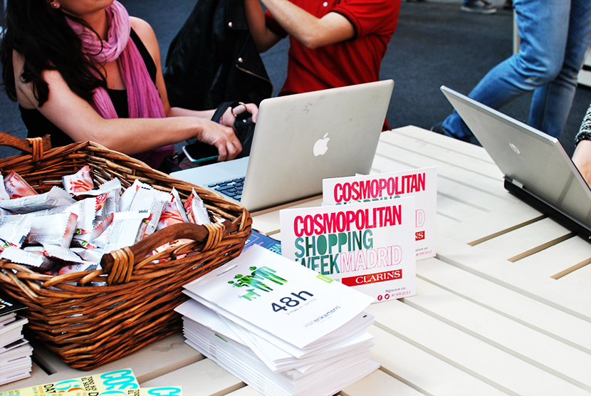 Cosmopolitan shopping week Madrid, SNB BLOG, Nery Hdez,,Taller blogs de Moda, IED Madrid,Carpa Callado