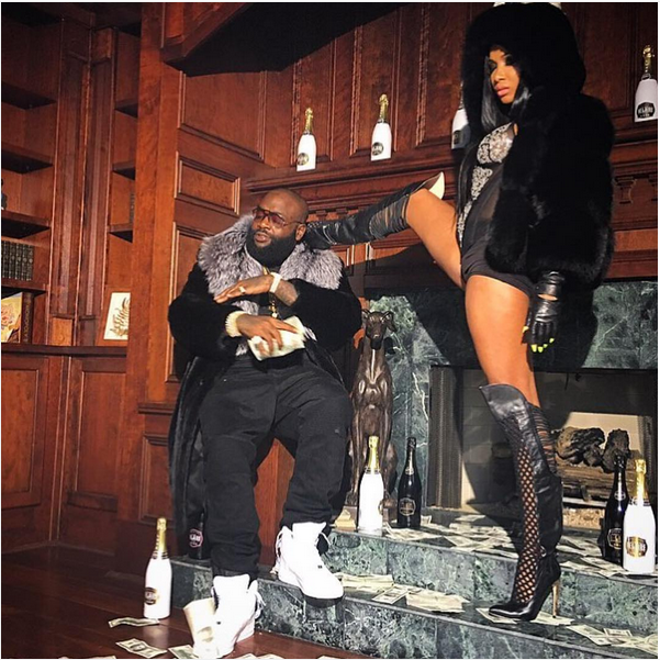 Rick Ross' girlfriend strikes sexy pose beside him | This ...
