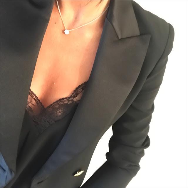 "my midlife fashion, philip balmain tuxedo jacket, zara lace trim camisole, j crew toothpick 8"" skinny jeans, cocorose london ballet flats, leopard print ballet pumps"