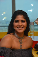 Mega Akash in a sleeveless Off Shoulder Cute Dress Stunnign beauty at Radio Mirchi Promoting Movie LIE ~ Celebrities Galleries 025.JPG