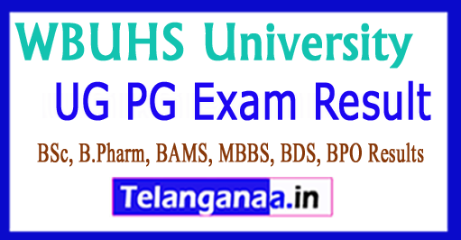 WBUHS University Result 2018 UG PG Exam Results 2018
