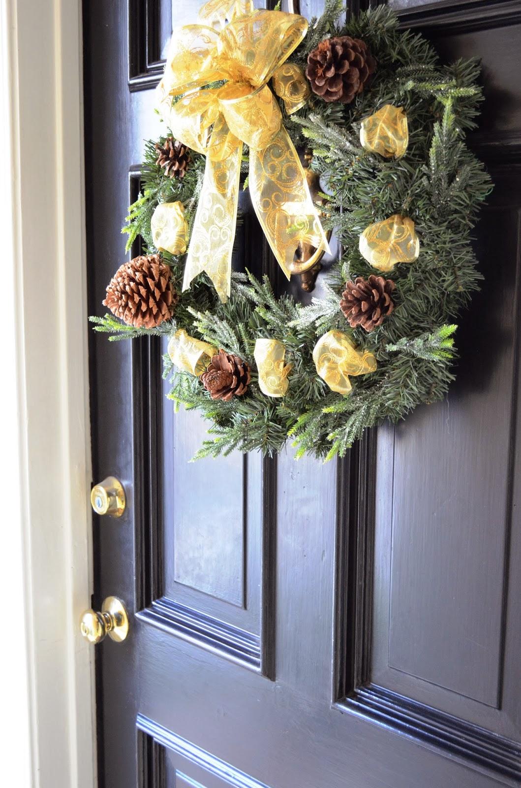 Beckabella Style Inspirations: DIY: Front Door Wreath