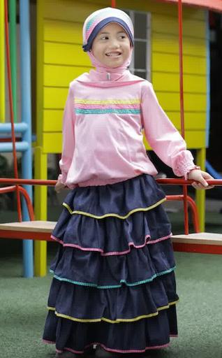 Contoh Gambar Busana Muslim Anak Perempuan