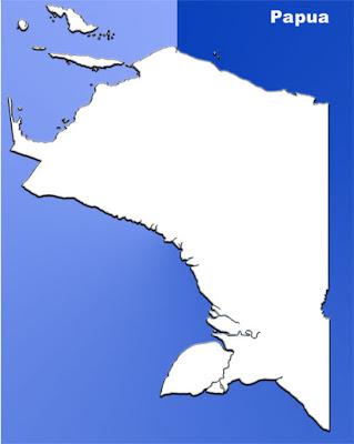 image: Papua blank map