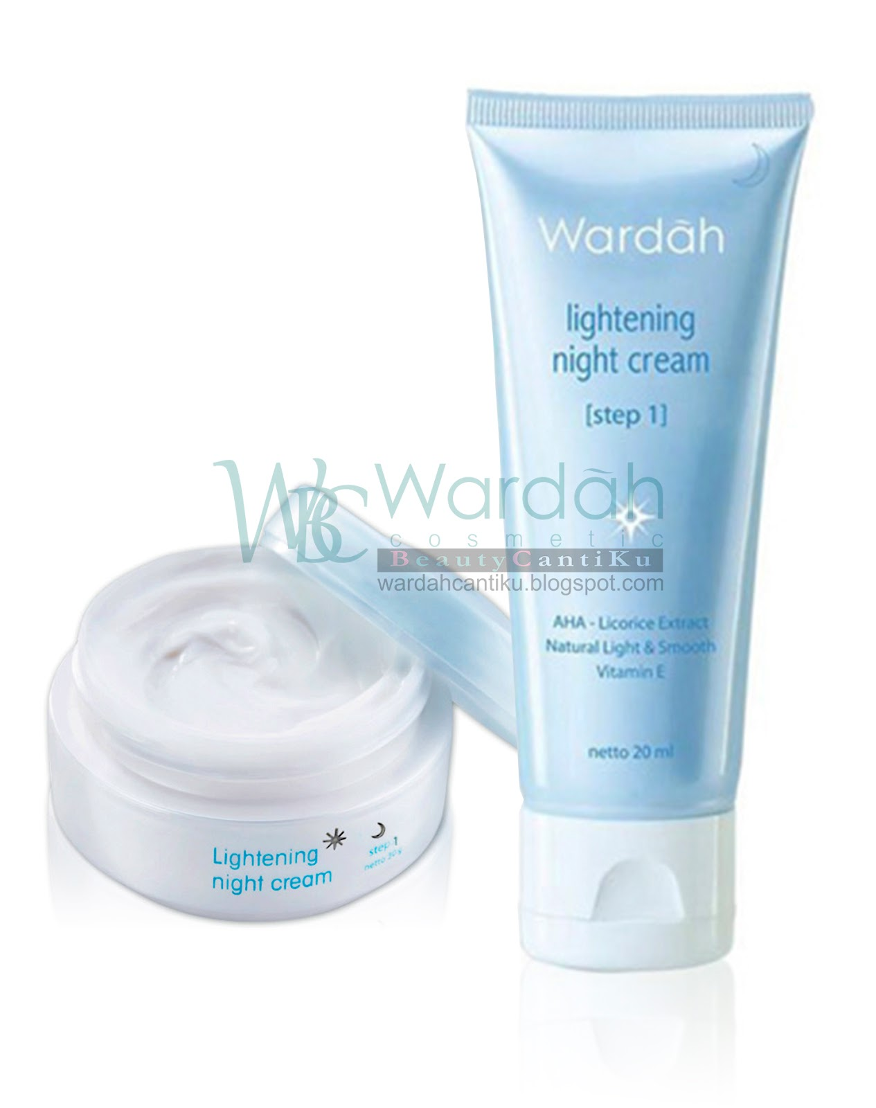Wardah Beauty Cantiku Januari 2017 Lightening Night Cream Step 2 30gr 1 20 Ml Rp 25000 30 Gr 42000