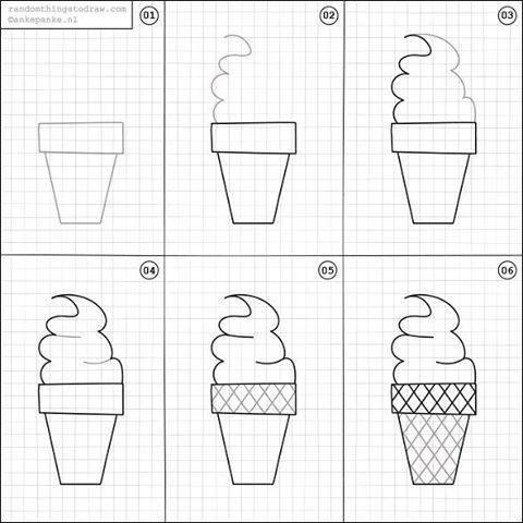 Cara Mudah Menggambar Eskrim Untuk Anak-Anak