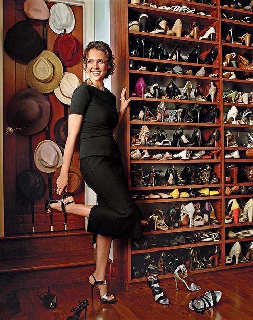 Jessica Alba luxury fantasy closet