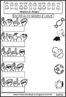 Sequência de atividades com libras