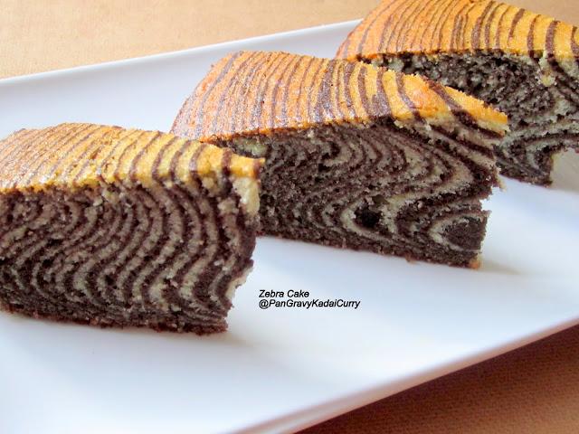 Bread Cake Recipe In Kadai: Pan Gravy Kadai Curry: Zebra Cake