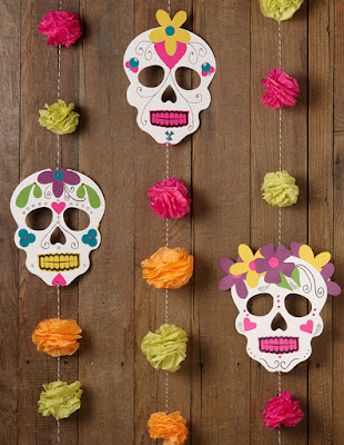free printable day of the dead garland