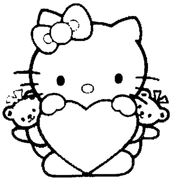 Hello Kitty Coloring Pages Free Archives
