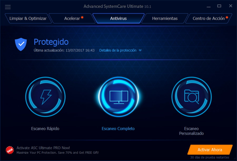Antivirus Advanced SystemCare Ultimate 10