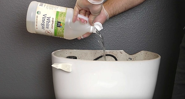 He Pours Vinegar In His Toilet Tank And Flushes. The Result Is Genius!